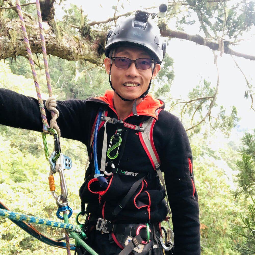 攀樹師江明駿 神木攀樹 攝影機架設